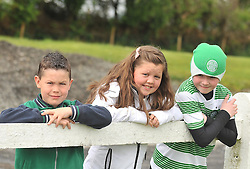 Supporting Castlebar Celtic at the Connaught Cup Final at Milebush were Cian and Tayna Reddington with Ethan Minogue.<br /> Pic Conor McKeown