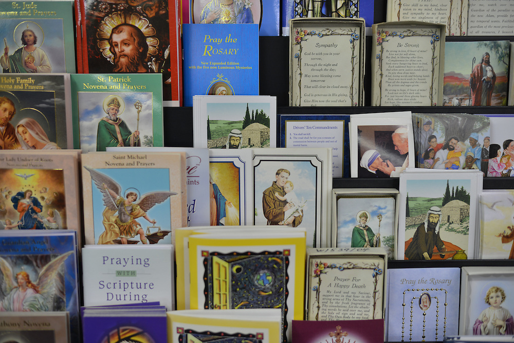 Religious cards for sale at Grismer's Christian Gifts.