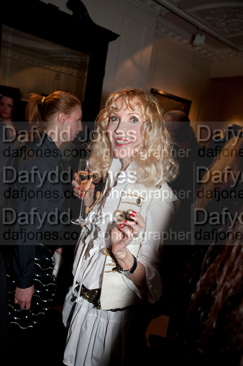 BASIA BRIGGS, Opening of 'The Promised Land' Exhibition of work by Mitch Griffiths. Halcyon Gallery. Bruton St. London. 28 April 2010 *** Local Caption *** -DO NOT ARCHIVE-© Copyright Photograph by Dafydd Jones. 248 Clapham Rd. London SW9 0PZ. Tel 0207 820 0771. www.dafjones.com.<br /> BASIA BRIGGS, Opening of 'The Promised Land' Exhibition of work by Mitch Griffiths. Halcyon Gallery. Bruton St. London. 28 April 2010
