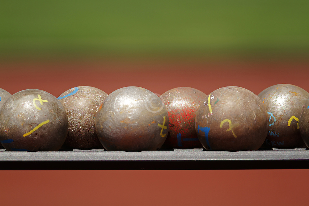 Olympic Trials Eugene 2012: shot put implements