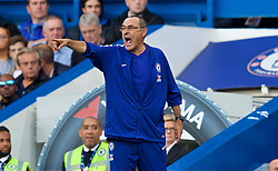LONDON, ENGLAND - Saturday, September 29, 2018: Chelsea's manager Maurizio Sarri during the FA Premier League match between Chelsea FC and Liverpool FC at Stamford Bridge. (Pic by David Rawcliffe/Propaganda)