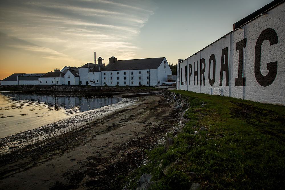 Laphroaig Distillery at Port Ellen, Isle of Islay, Scotland, July 17, 2015. Gary He/DRAMBOX MEDIA LIBRARY