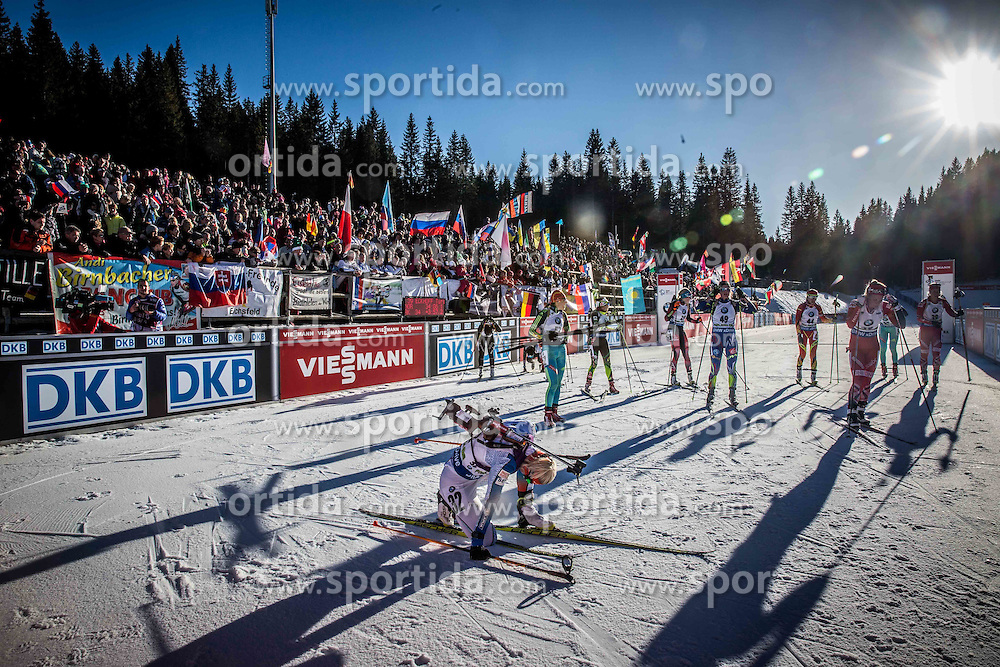 Finish area during Women 10 km Pursuit at day 3 of IBU Biathlon World Cup 2015/16 Pokljuka, on December 19, 2015 in Rudno polje, Pokljuka, Slovenia. Photo by Vid Ponikvar / Sportida