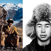 Traditional Eagles Hunter in the province or Nura in Kazakhstan.