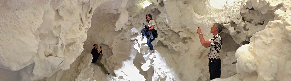 """Venice, Italy - 15th Architecture Biennale 2016, """"Reporting from the Front"""".<br /> Giardini.<br /> Swiss Pavillon. Christian Kerez, """"Incidental Space""""."""