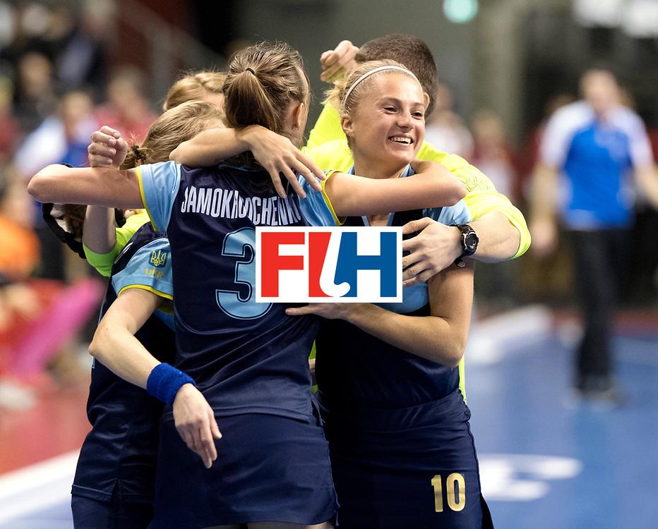 BERLIN - Indoor Hockey World Cup<br /> Quarterfinal 2: Ukraine - Switzerland<br /> foto: KHILKO Maryna.<br /> WORLDSPORTPICS COPYRIGHT FRANK UIJLENBROEK