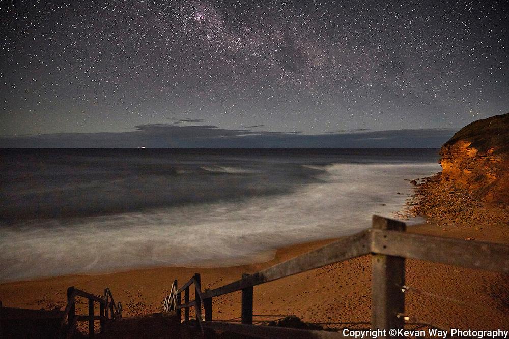 The Milky Way over Bells Beach