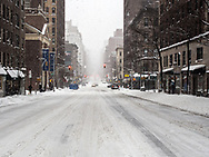 Lexington Avene at 81st street after a blizzard.