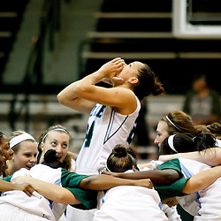November 19, 2011; New Orleans, LA; Tulane Green Wave guard/forward Janique Kautsky (24) pumps up her team prior to tip off against the LSU Lady Tigers at Avron B. Fogelman Arena.  Mandatory Credit: Derick E. Hingle-US PRESSWIRE
