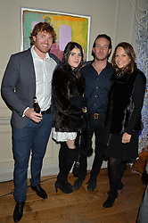 LONDON, ENGLAND 1 DECEMBER 2016: Left to right, George Gardner, Lexi Abrams, Alex Andrew, Charlotte Dauphin at the Smythson & Brown's Hotel Christmas Party held at Brown's Hotel, Albemarle St, Mayfair, London, England. 1 December 2016.