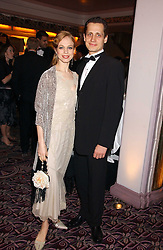 Dancers AGNES OAKES and THOMAS EDUR at a ball in aid of the English National Ballet featuring debutantes rom the forthcoming season held at The park Lane Hotel, Piccadilly, London on 16th March 2006.<br />