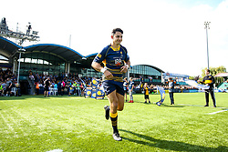 Bryce Heem of Worcester Warriors runs out to make his 50th appearance for Worcester Warriors - Mandatory by-line: Robbie Stephenson/JMP - 01/09/2018 - RUGBY - Sixways Stadium - Worcester, England - Worcester Warriors v Wasps - Gallagher Premiership
