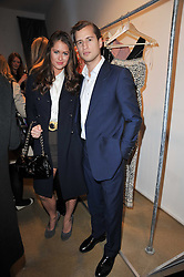 Lexi Bowes-Lyon and George Askew at a party to launch pop-up store Oxygen Boutique, 33 Duke of York Square, London SW3 on 8th February 2011.