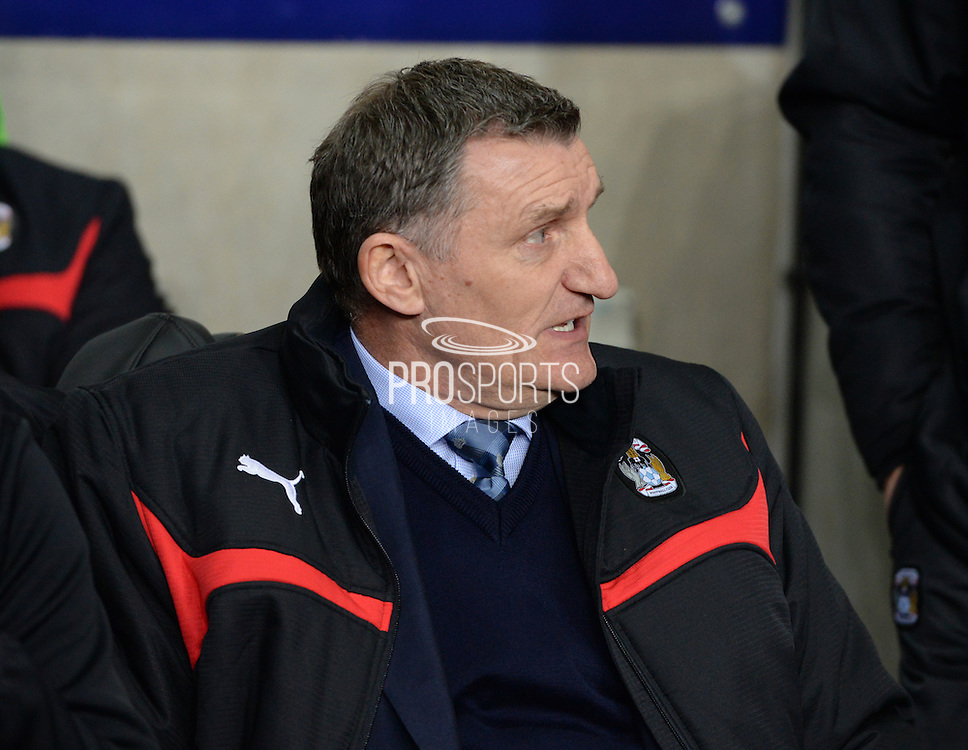 Tony Mowbray takes charge of his first game at The Ricoh Arena prior to the Sky Bet League 1 match between Coventry City and Bradford City at the Ricoh Arena, Coventry, England on 10 March 2015. Photo by Simon Kimber.