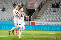 23.04.2019, Tivoli Stadion Tirol, Innsbruck, AUT, 1. FBL, FC Wacker Innsbruck vs Cashpoint SCR Altach, Qualifikationsgruppe, 27. Spieltag, im Bild SCR Altach feiert das 0:4 durch Mergim Berisha (SCR Altach) // during the tipico Bundesliga qualification group, 27. round match between FC Wacker Innsbruck and Cashpoint SCR Altach at the Tivoli Stadion Tirol in Innsbruck, Austria on 2019/04/23. EXPA Pictures © 2019, PhotoCredit: EXPA/ Lukas Huter
