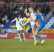 Inverness' Daniel Devine gets to grips with Dundee's Rhys Healy - Inverness Caledonian Thistle v Dundee at Caledonian Stadium, Inverness<br /> <br />  - © David Young - www.davidyoungphoto.co.uk - email: davidyoungphoto@gmail.com
