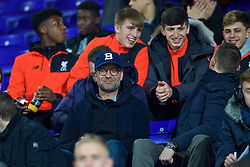 BIRKENHEAD, ENGLAND - Monday, March 13, 2017: Liverpool's manager Jürgen Klopp watches the Under-23's take on Chelsea during the Under-23 FA Premier League 2 Division 1 match at Prenton Park. (Pic by David Rawcliffe/Propaganda)