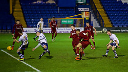 BURY, ENGLAND - Wednesday, March 6, 2019: Liverpool's Rhys Williams scores the fourth goal during the FA Youth Cup Quarter-Final match between Bury FC and Liverpool FC at Gigg Lane. (Pic by David Rawcliffe/Propaganda)
