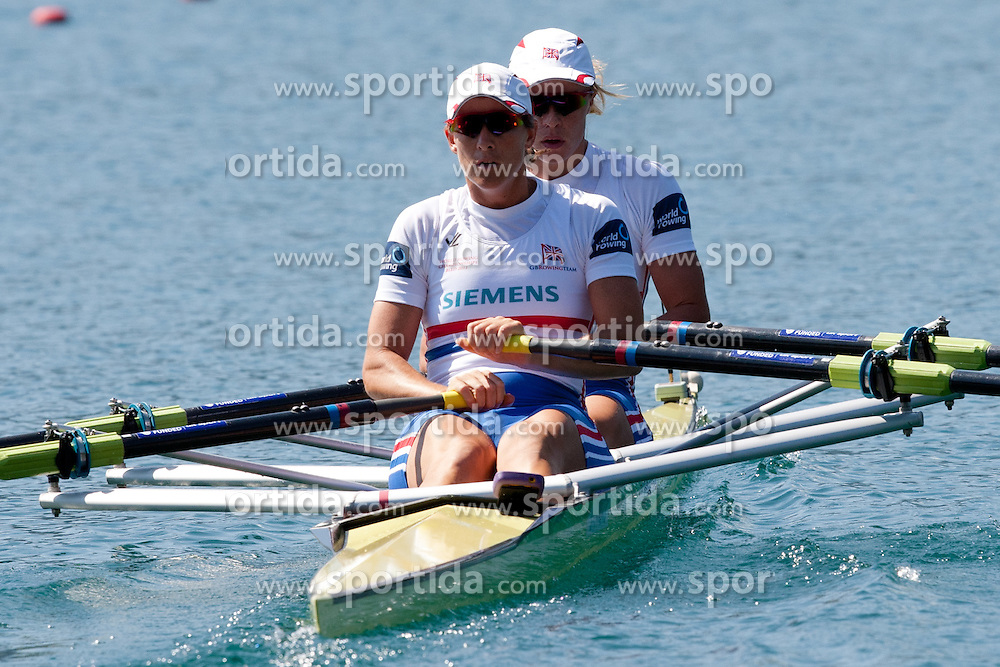 WATKINS Anna and GRAINGER Katherine of Great Britain during Women's Double Sculls at Rowing World Championships Bled 2011 on September 3, 2011, in Bled, Slovenia. (Photo by Matic Klansek Velej / Sportida)
