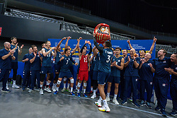 11-08-2019 NED: FIVB Tokyo Volleyball Qualification 2019 / Netherlands - USA, Rotterdam<br /> Final match pool B in hall Ahoy between Netherlands vs. United States (1-3) and Olympic ticket  for USA / Team USA, Taylor Sander #3 of USA