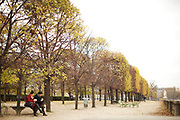 PARIS, FRANCE - November 29, 2013: Eating lunch in the Tuileries Garden off Place de la Concorde.<br /> <br /> CREDIT: Clay Williams.<br /> <br /> © Clay Williams / http://claywilliamsphoto.com