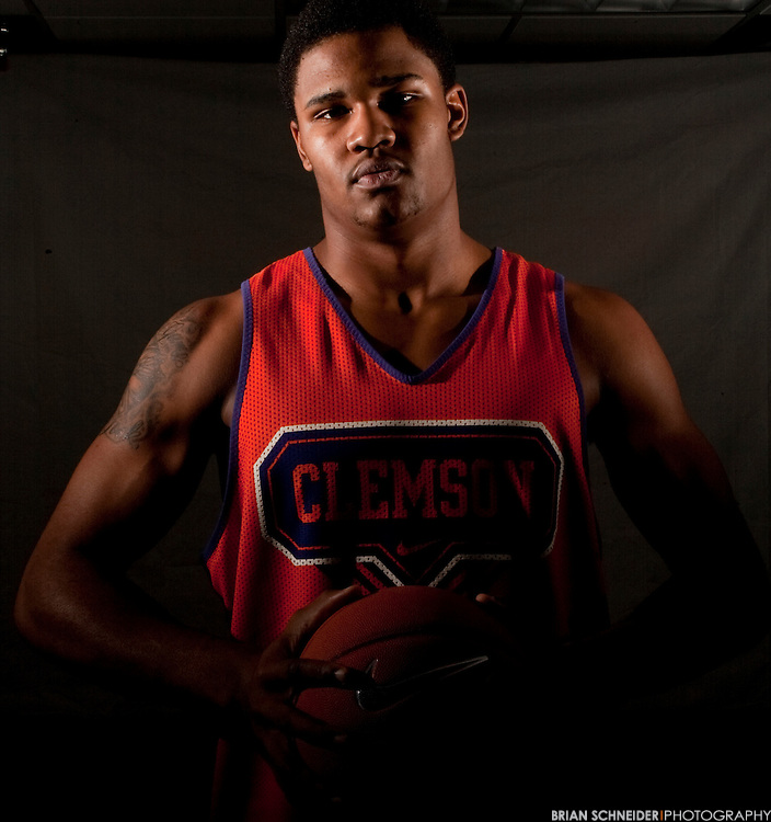Nov 10, 2009; Clemson, SC, USA; Clemson Tigers forward Devin Booker (31) poses for a portrait before practice at Littlejohn Coliseum. Mandatory Credit: Brian Schneider-www.ebrianschneider.com