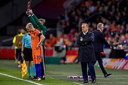 10-10-2017 NED: WK kwalificatie Nederland - Zweden, Amsterdam<br /> Oranje heeft Zweden met 2-0 verslagen. Het moest met zeven doelpunten verschil halen om nog kans te maken op plaatsing voor het WK. / Coach Dick Advocaat (NED)