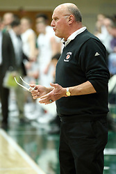 10 January 2015:  Bosko Djurickovic with his white framed glasses during an NCAA mens division 3 CCIW basketball game between the Carthage Reds and the Illinois Wesleyan Titans in Shirk Center, Bloomington IL