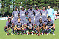 FOOTBALL - FRIENDLY GAMES 2012/2013 - STADE RENNAIS v FC LORIENT - 21/07/2011 - PHOTO PASCAL ALLEE / DPPI - BACK ROW (LEFT TO RIGHT) : JONATHAN PITROIPA, SADIO DIALLO, JOHN BOYE, ALEXANDER TETTEY, VINCENT PAJOT AND BENOIT COSTIL.                                                                         FRONT ROW (LEFT TO RIGHT) : CHRIS MAVINGA, MEVLUT ERDING, JEAN-ARMEL KANA BIYIK, JIRES KEMBO EKOKO, AND ROMAIN DANZE                       STADE RENNAIS TEAM