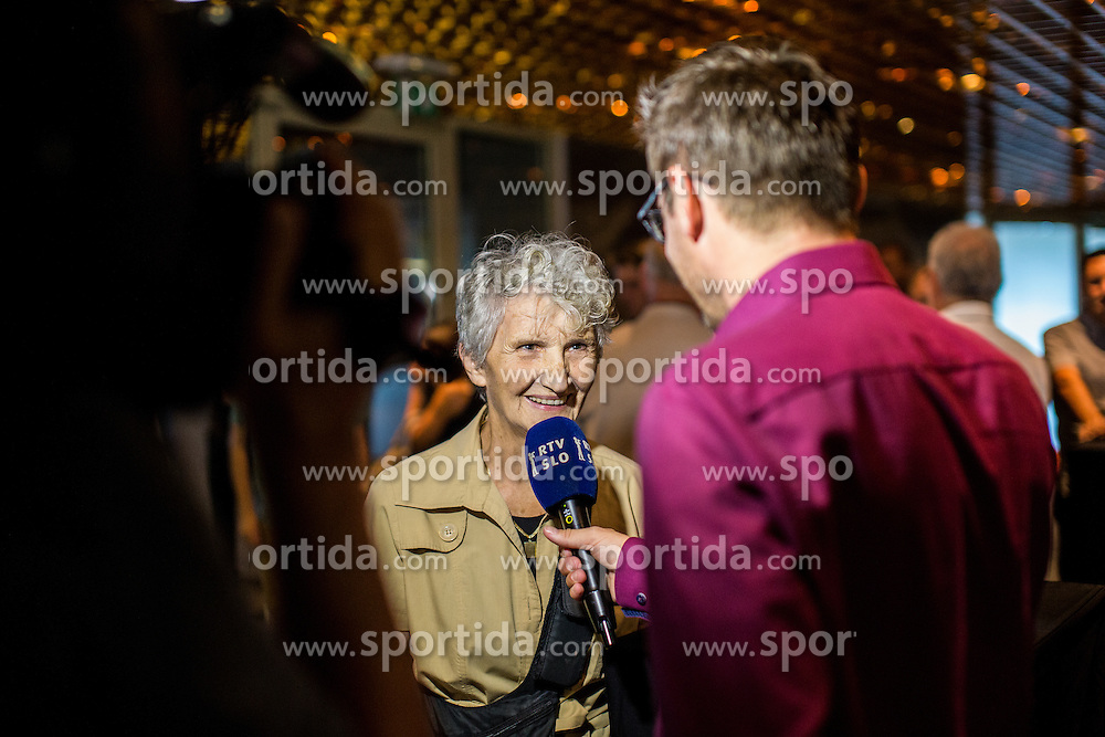 Zdenka Steiner mother of Slovenian skier Rok Petrovic during the 2015 Slovenia Hall of Fame induction ceremony, on August 27, 2015 in Arena Stozice, Ljubljana, Slovenia. Photo by Grega Valancic / Sportida