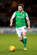 Lewis Stevenson (#16) of Hibernian in action during the Ladbrokes Scottish Premiership match between Dundee and Hibernian at Dens Park, Dundee, Scotland on 24 January 2018. Photo by Craig Doyle.