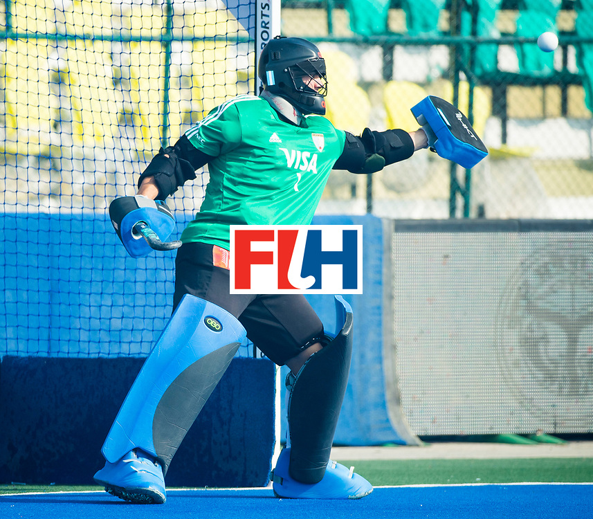 LUCKNOW (India) -   Junior World Cup hockey  U21 for men .ARGENTINA v ENGLAND (5th-8th place)  . Goalie Emiliano Bosso (Arg)  COPYRIGHT  KOEN SUYK