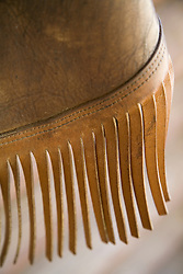 United States, Montana, Livingston, fringes of leather cowboy chaps