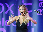 Chrissy Teigen appears during the Lip Sync Battle Live at SummerStage in Rumsey Playfield Central Park in New York City, New York on July 13, 2015.