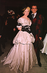 VIVIENNE WESTWOOD and her husband MR ANDREAS KRONTHALER, at a fashion show in London on 17th November 1998.MMC 48