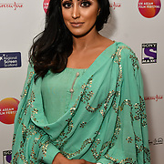 Suzi Mann is a presenter attends the UK Asian Film Festival closing flame awards gala - Red Carpet at BAFTA 195 Piccadilly, on 7 April 2019, London, UK