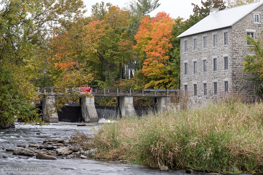 Watson's Mill is an 1860's era grist and flour mill located in Manotick (suburb of Ottawa, Ontario), on the shores of the Rideau River. Photographed from A. Y. Jackson Park.