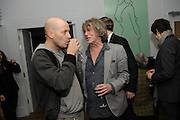 PAUL ROWE; HOWARD MARKS, The 2011 Groucho Club Maverick Award. The Groucho Club. Soho, London. 14 November 2011. <br /> <br />  , -DO NOT ARCHIVE-© Copyright Photograph by Dafydd Jones. 248 Clapham Rd. London SW9 0PZ. Tel 0207 820 0771. www.dafjones.com.