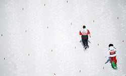 17.03.2017, Ramsau am Dachstein, AUT, Special Olympics 2017, Wintergames, Schneeschuhlauf, Divisioning 100 m, im Bild zwei Athletinnen in Aktion // two athletes on track during the Snowshoeing Divisioning 100 m at the Special Olympics World Winter Games Austria 2017 in Ramsau am Dachstein, Austria on 2017/03/17. EXPA Pictures © 2017, PhotoCredit: EXPA / Martin Huber