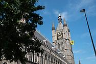 België. Ieper. Toren van In Flanders Field Museum.  Foto: Gerrit de Heus           Belgium. Tower of In Flanders Field Museum Photo: Gerrit de Heus