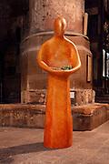 """Une journÈe avec Fleur Nabert, sculpteur, ? Metz le samedi 24 avril 2010, ? l'occasion du vernissage de l'exposition """"Les Cinq Sens"""" - Sculptures en vie rÈalisÈes par l'artiste ? la CathÈdrale de Metz. Vue de l'installation de l'exposition """"Les Cinq Sens"""" - Scuptures en vie dans la cathÈrale de Metz A day with Fleur Nabert, sculptor, on April 24, 2010 in Metz, France for the opening of the sculptures exhibition """"Les cinq sens - sculptures en vie"""" in St Stephen Cathedral of Metz. Atmospheric view of the exhibition. Picture by Manuel Cohen - Further clearance required, please contact us"""