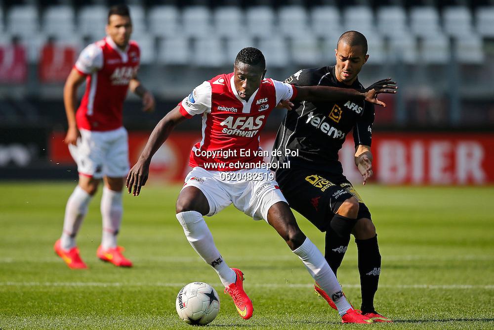 ALKMAAR - 04-09-2014 - AZ - KV Mechelen, oefenduel, AFAS Stadion, 2-1, KV Mechelen speler Sofiane Hanni (r), AZ speler Derrick Luckassen (l).
