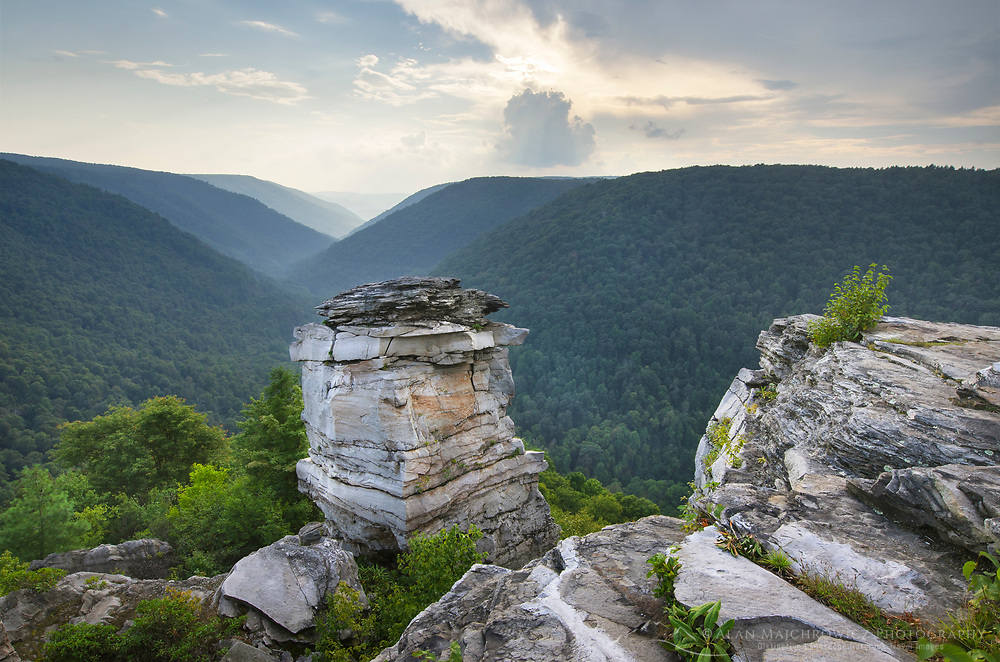 Clouds over Lindy Point Overlook, Blackwater Falls State Park, West Virginia.