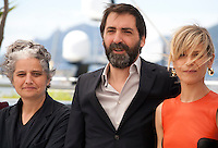 Viola Prestieri, Stefano Mordini, Marina Fois at the Pericle (Pericle Il Nero) film photo call at the 69th Cannes Film Festival Thursday 19th May 2016, Cannes, France. Photography: Doreen Kennedy