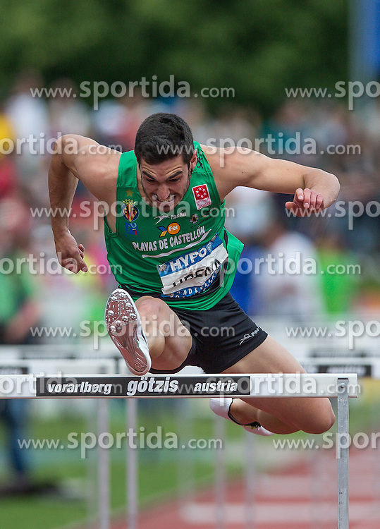 29.05.2016, Moeslestadion, Goetzis, AUT, 42. Hypo Meeting Goetzis 2016, Zehnkampf der Herren, 110 Meter Huerden, im Bild Jorge Arena (ESP) // Jorge Arena of Spain in action during the 110 metres hurdles event of the Decathlon competition at the 42th Hypo Meeting at the Moeslestadion in Goetzis, Austria on 2016/05/29. EXPA Pictures © 2016, PhotoCredit: EXPA/ Peter Rinderer