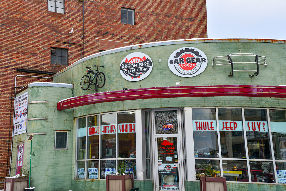 Exterior of Akron Bike Center.