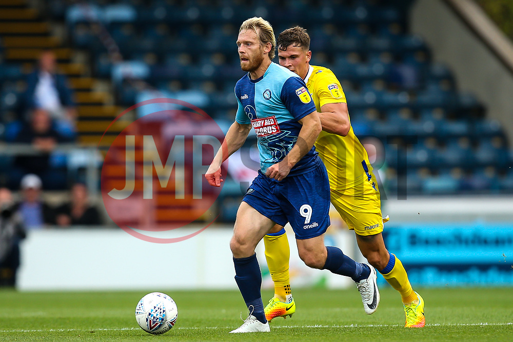 Craig Mackail-Smith of Wycombe Wanderers takes on Tom Broadbent of Bristol Rovers - Mandatory by-line: Robbie Stephenson/JMP - 18/08/2018 - FOOTBALL - Adam's Park - High Wycombe, England - Wycombe Wanderers v Bristol Rovers - Sky Bet League One