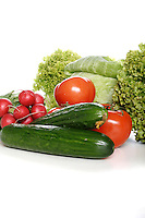 CComposition of vegetables on white background