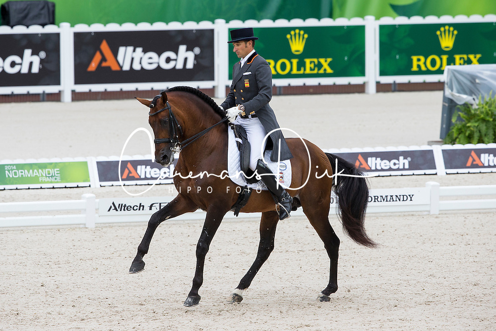 Jose Daniel Martin Dockx, (ESP), Grandioso - Grand Prix Team Competition Dressage - Alltech FEI World Equestrian Games&trade; 2014 - Normandy, France.<br /> &copy; Hippo Foto Team - Leanjo de Koster<br /> 25/06/14