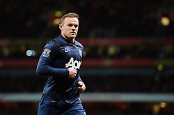 Man Utd Forward Wayne Rooney (ENG) looks on - Photo mandatory by-line: Rogan Thomson/JMP - 07966 386802 - 12/02/14 - SPORT - FOOTBALL - Emirates Stadium, London - Arsenal v Manchester United - Barclays Premier League.